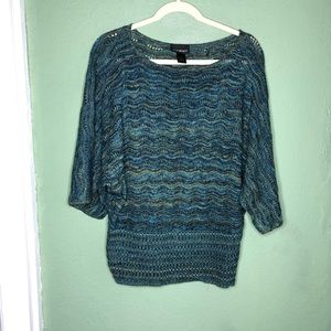 Lane Bryant Lightweight Green and Blue Sweater